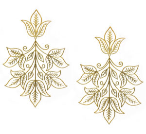 Sheen Leaf Cluster Taar Gold
