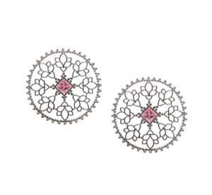Sheen Floral Mandala Earrings