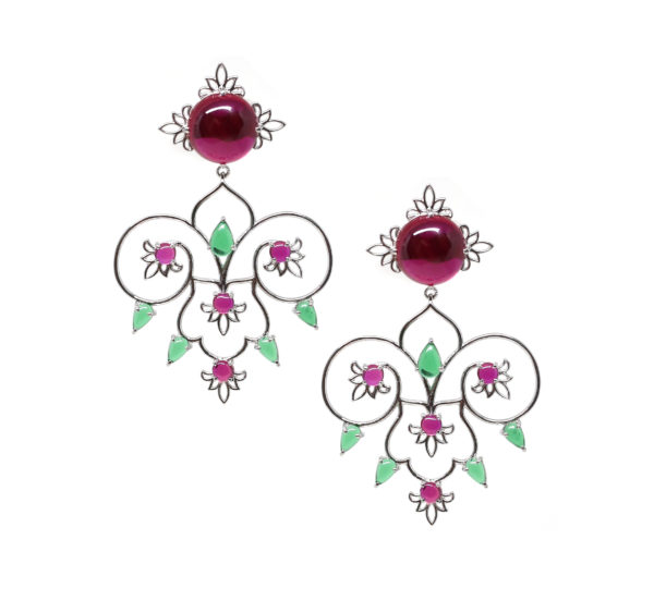 Sheen Red and Green Earring