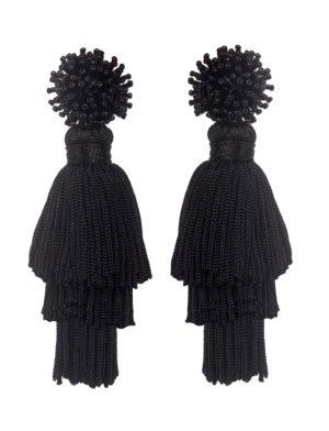 Talea Black Earrings
