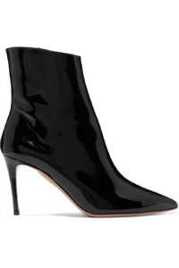 Aquazzura Alma 85 Patent Leather Ankle Boots