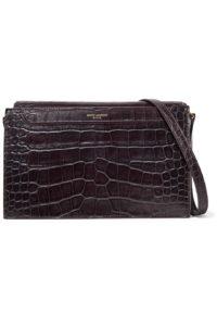 Saint Laurent Catherine Croc Effect Shoulder Bag